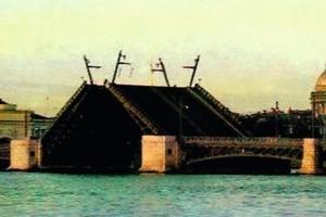 Open Balance Bridge in St. Petersburg