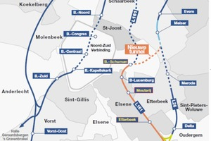 1 Overview of the railway network around Brussels/B<br />