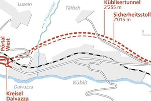 "<div class=""bildtext_en"">The Küblis Tunnel's route alignment with parallel safety tunnel 