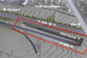 7West model area of the Albvorland Tunnel