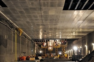 Fire protection as suspended ceiling