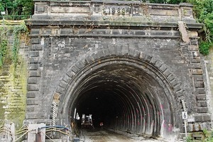 Old tunnel portal for the Old Mainz Tunnels<br />