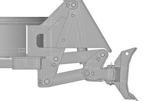 """<div class=""""bildtext"""">Räumschild, ein Schutzblech schützt das hydraulische Hubwerk</div>"""