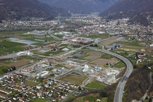 2Luftaufnahme der Baustelle Nodo di Camorino<br /><br />