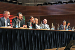 "<div class=""bildtext_en"">Following the two Congress segment blocks, the Swiss Tunnel Congress lecturers will face critical questions from the audience during discussion rounds</div>"