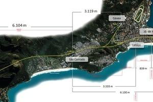"""<div class=""""bildunterschrift_en"""">Trace of Metro Line 4 of Rio de Janeiro </div>"""