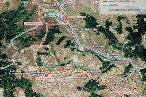 The area for accomplishing the Stuttgart 21 and new Wendlingen–Ulm route major projects<br />
