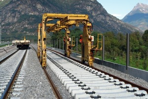 5Track construction on the open route South near Biasca<br />