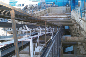 """<div class=""""bildtext_en"""">The Robbins continuous conveyors are designed for mixed ground conditions, with sealed transfer points and customized belt washing and cleaning systems</div>"""