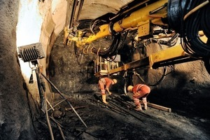 "<div class=""bildunterschrift_en"">Construction of the exploratory tunnel Innsbruck - Ahrental</div>"
