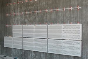 Part-assembled absorber panels<br />