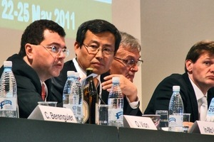 ITA General Assembly (from l. to r. Olivier Vion, In-Mo Lee, Martin Knights. Markus Thewes)