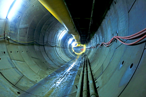 """<div class=""""bildtext_en"""">18 km of the 35 tunnel kilometres will be accomplished by mechanized driving. By late August 2015 the three TBMs involved and the drill+blast crews had accomplished a total of 2150 m of tunnel; the tunnels for the Mecidiyeköy-Mahmutbey Metro are due to completed in their rough state by early 2017</div>"""