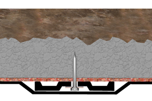"""<div class=""""bildtext_en"""">Fixing the tunnel waterproofing membrane with rondelle</div>"""