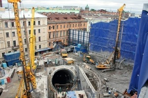 "<div class=""bildunterschrift_en"">Construction of the second escalator shaft for the Admiralteyskaya Station was successfully completed in April 2011</div>"