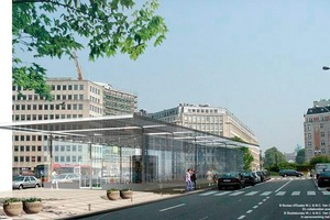 7 Animation of the Schuman Square Station from above<br />