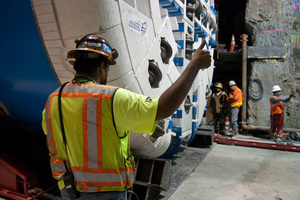 """<div class=""""bildtext_en"""">At the San Francisco Central Subway in California, USA, two Robbins EPBs excavated urban conditions with settlement limits as strict as 13 mm</div><div class=""""bildtext_en""""></div>"""