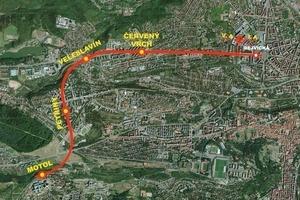 Übersicht über den Tunnelverlauf der Erweiterung der U-Bahn-Linie A