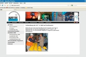 "You may find the new homepage of IUT '11 under <span class=""info_link"">www.iut.ch</span><br /><br />"