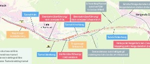 """<div class=""""bildtext""""><strong>2</strong>Streckenführung Umfahrung Schwarzkopftunnel</div>"""