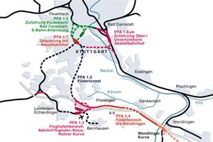 New setup of the Stuttgart rail hub with tunnels