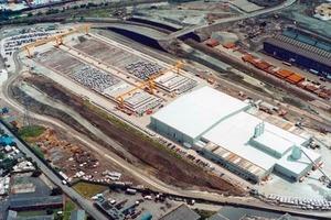 Temporary prefabrication facility, CTRL project, London