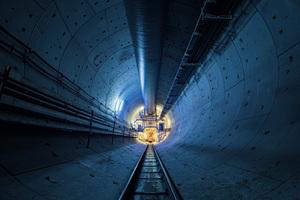 """<div class=""""bildtext"""">Von den insgesamt fast 20 km unterirdischer Strecke des Fildertunnels zwischen Filderebene und dem künftigen Hauptbahnhof wurden bislang knapp 6,5 km vorgetrieben</div>"""