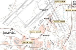 Ring rail tunnels