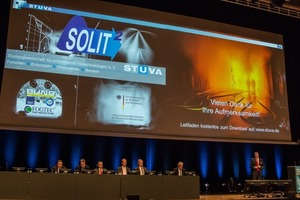 """<div class=""""bildtext_en"""">STUVA CEO Dr. Roland Leucker explains the outline of the holistic planning for a tunnel safety system</div>"""