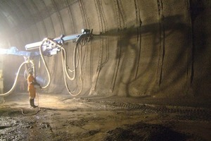 Shotcrete works in NSBT