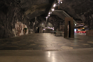 "<div class=""bildtext_en"">The entrance area of Gjøvik Olympic Cavern Hall – the world's largest cavern hall for public use with a span of 61 m. The ice hockey stadium inside a mountain was built for the 1994 Winter Olympics (Lillehammer)</div>"
