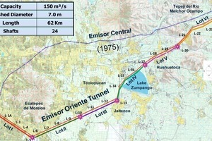 General plan of the Emisor Oriente project<br />
