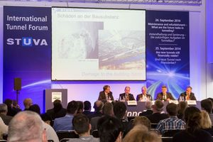 "<div class=""bildtext_en"">The successful 2014 ""International Tunnel Forum"" (Image above) is followed by another highly topical dialogue among experts at this year's InnoTrans. On September 21 and 22, the topics ""BIM – An Added Value for Tunnelling?"" and ""Underground Stations – A special Safety and Security Risk?"" will be analyzed and discussed </div>"
