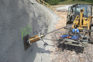 6)	Tensile test for soil nailing analysis in the area of the Tunnel Hain <br />