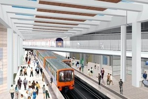 9 Animation of the track layout at the Schuman Square Station