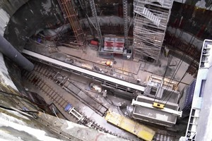 4 Tunnel shaft with dewatering wells<br />