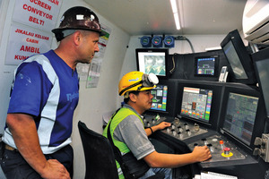 Wireless operator's cabs and touch screens in each TBM enable user-friendly tracking of all the machine's functions