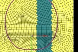 "<div class=""bildtext_en"">Karst crevice parallel, eccentric in the tunnel, as design assumption</div>"