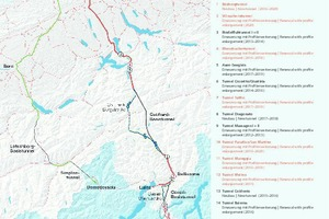"""<div class=""""bildtext_en"""">Overview of the construction projects on the route of the 4 m corridor on the Gotthard axis</div>"""