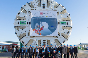 Official acceptance of the first of two TBMs for the Rastatt Tunnel in early  December 2015