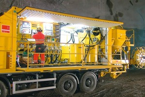 6 Atlas Copco Craelius Unigrout Max 244 T grouting appliance on a truck<br />