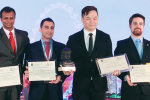 "<div class=""bildtext_en"">	Derek Eng (4<sup>th</sup> from the right) is the 2016 Young Tunneller of the Year and hails from Malaysia. From left: Ruth Haug, ITA vice-president, with the finalists Oh Jinnie (Singapore), Senthil Nath GT (Singapore), Mehdi Bakhshi (USA), Derek Eng (Malaysia), Marlisio Oliveria Cecilio Junior (Brazil) and Jiang Chao (China) as well as ITA vice-president Eric Leca </div>"
