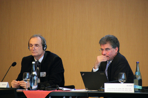 """<div class=""""bildtext_en"""">The congress was jointly chaired by Prof. Dr. Walter Purrer (left) und Prof. Dr. Konrad Bergmeister</div>"""