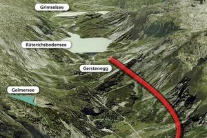 Handeck-Gerstenegg exploratory tunnel and Hangholz dump (site plan)