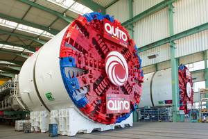 "<div class=""bildtext_en"">With a diameter of 9.36 meters the two identical tunnel boring machines for the Metro de Quito are among the larger calibers. By the opening of the metro system the EPB Shields completed in late August 2016 will have excavated more than 17 km of new tunnels</div>"