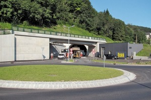 The Tunnel Waidhofen/Ybbs in Lower Austria ambitiously embedded in the landscape