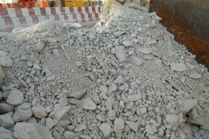 """<div class=""""bildtext_en"""">An example of unconditioned material on a mixed ground EPB project in gypsum and mudstone</div>"""