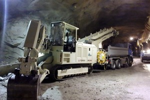 Loading machine TIC 312-H3 in the exploratory tunnel
