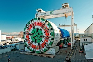 The world's largest-ever EPB shield machine was ceremonially handed over at the manufa  cturer's works in mid-December
