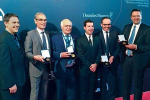 "<div class=""bildtext_en"">Award winners of the Diesel Medal 2016: Dr.-Ing. E. h. Martin Herrenknecht (3<sup>rd</sup> from left) accepted the award in the category ""Most Successful Innovation Achievement"" as founder and chairman of the Herrenknecht AG 